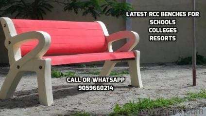 Rcc Outdoor Garden Cement Precast Benches In Hyderabad in Hyderabad