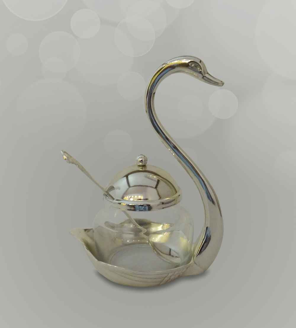 swan sugar pot