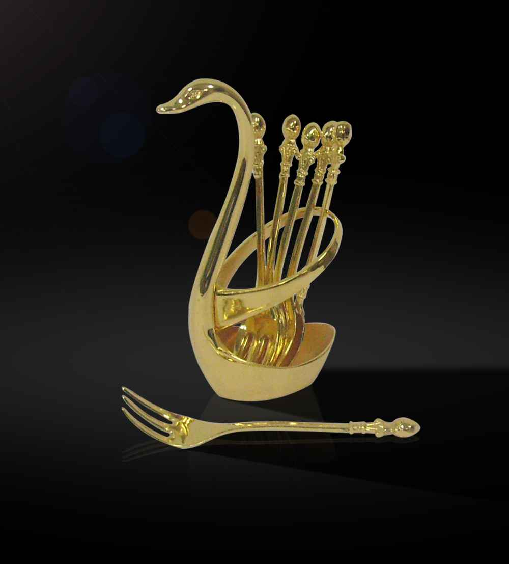 gifts spoon set the lustrous 24 carat gold plated set of 6-spoons